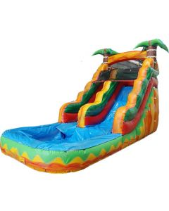 15' Tropical Wet/Dry Inflatable Slide