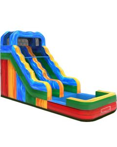 15' Marble Wet/Dry Inflatable Slide