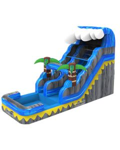 16' Tropical Wet/Dry Inflatable Slide