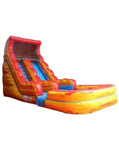 Yellow Marble 18ft inflatable slide for sale