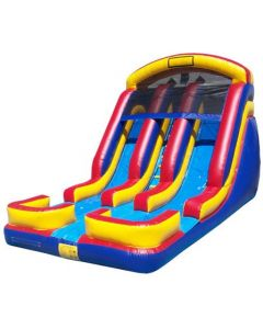 18' Double Lane Wet/Dry Slide | S108