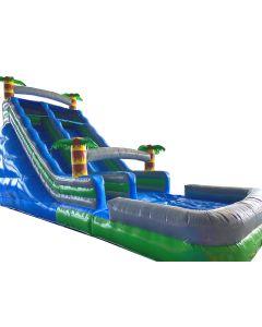 18' Paradise Grey Wet/Dry Inflatable Slide | S107b