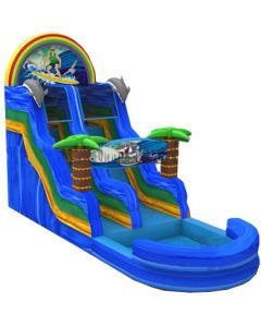 19' Jungle Wet/Dry Inflatable Slide