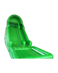 18' Green ENHANCED Wet/Dry Inflatable Slide | S313