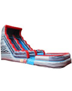 Grey or Gray marble 18ft slide for sale inflatable