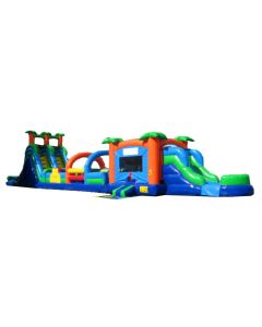 Paradise Combo & Obstacle w/18' Slide (3 pc)
