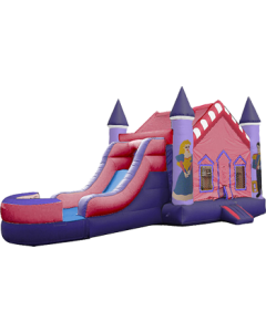 Castle Princess V-Roof Bounce Slide Combo | Wet/Dry | C104