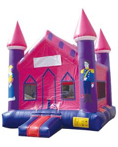 Princess Castle V-Roof Bounce House | B107