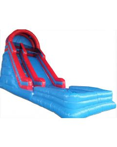 18' Red Blue ENHANCED Wet/Dry Inflatable Slide | S315