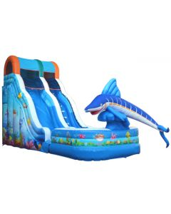 18' Fish Wet/Dry Inflatable Slide | S301